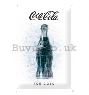 Metal sign: Coca-Cola Ice Cold - 30x20 cm