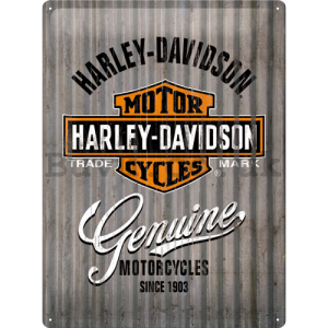 Metal sign: Harley-Davidson (metal genuine) - 40x30 cm