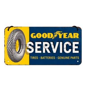 Wall hanging sign: Good Year Service - 10x20 cm