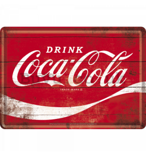 Metal postcard - Coca-Cola (Red logo)