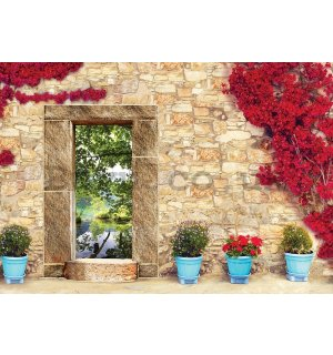 Vlies wall mural : View on nature (2) - 184x254 cm
