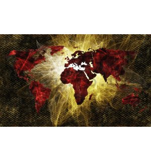 Wall Mural: Artistic map of the world (1) - 184x254 cm