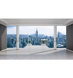 Wall mural vlies: View on Manhattan (terrace) - 254x368 cm