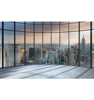 Wall mural vlies: View from window to New York - 254x368 cm