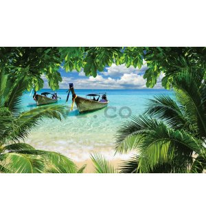 Wall mural vlies: Hawaii beach - 254x368 cm