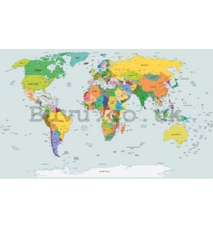 Vlies wall mural : Map of the world (2) - 184x254 cm
