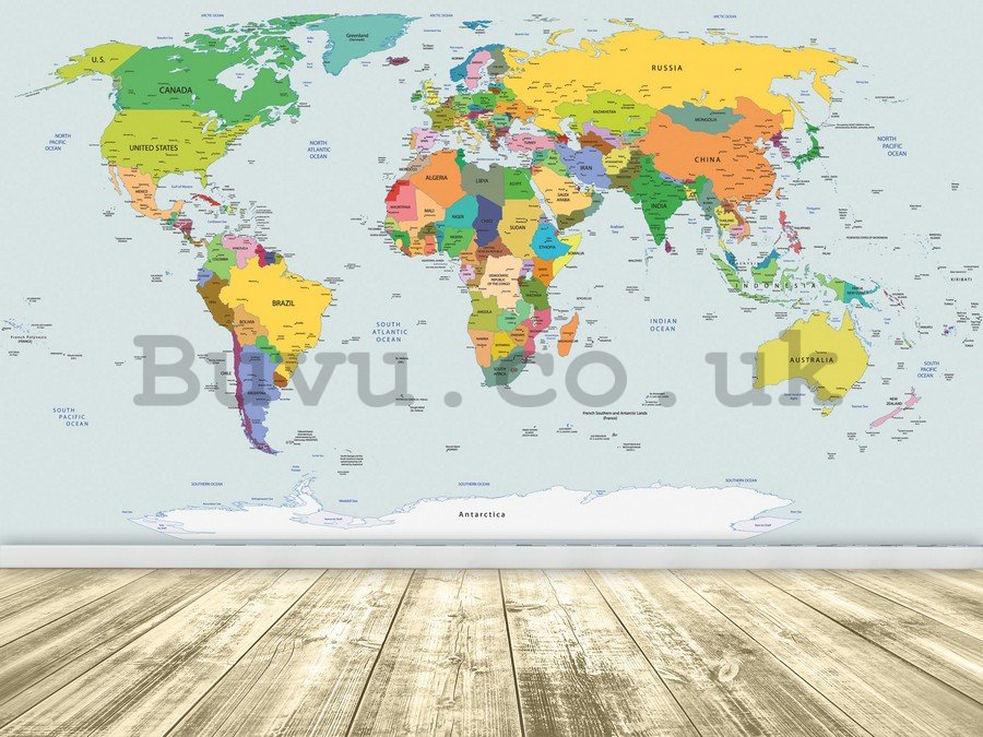 Wall mural vlies: Map of the world (2) - 104x152,5 cm
