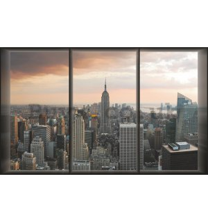 Wall Mural: View out of the window of Manhattan - 254x368 cm