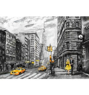 Wall Mural: New York (painted) - 254x368 cm