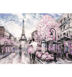 Wall Mural: Paris (painted) - 184x254 cm