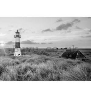 Wall Mural: Lighthouse on the coast (1) - 184x254 cm