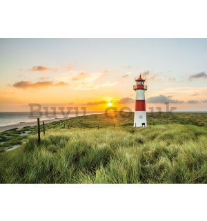 Wall Mural: Lighthouse on the coast (2) - 254x368 cm