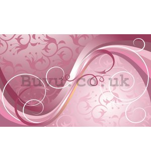 Wall Mural: Pink lines - 184x254 cm