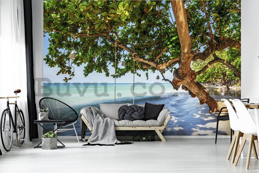 Wall Mural: Swing on the beach - 184x254 cm