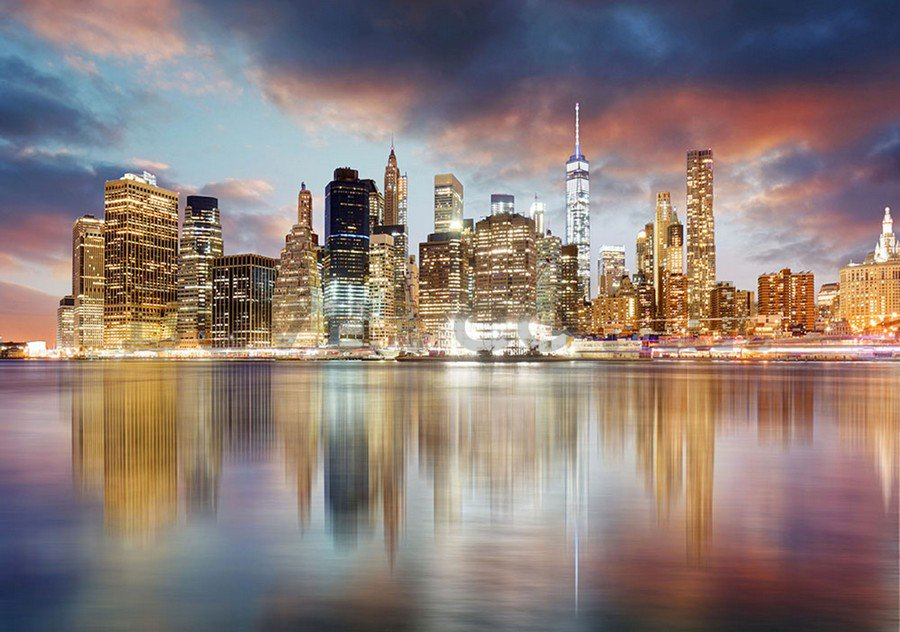 Wall Mural: Reflection of New York - 254x368 cm