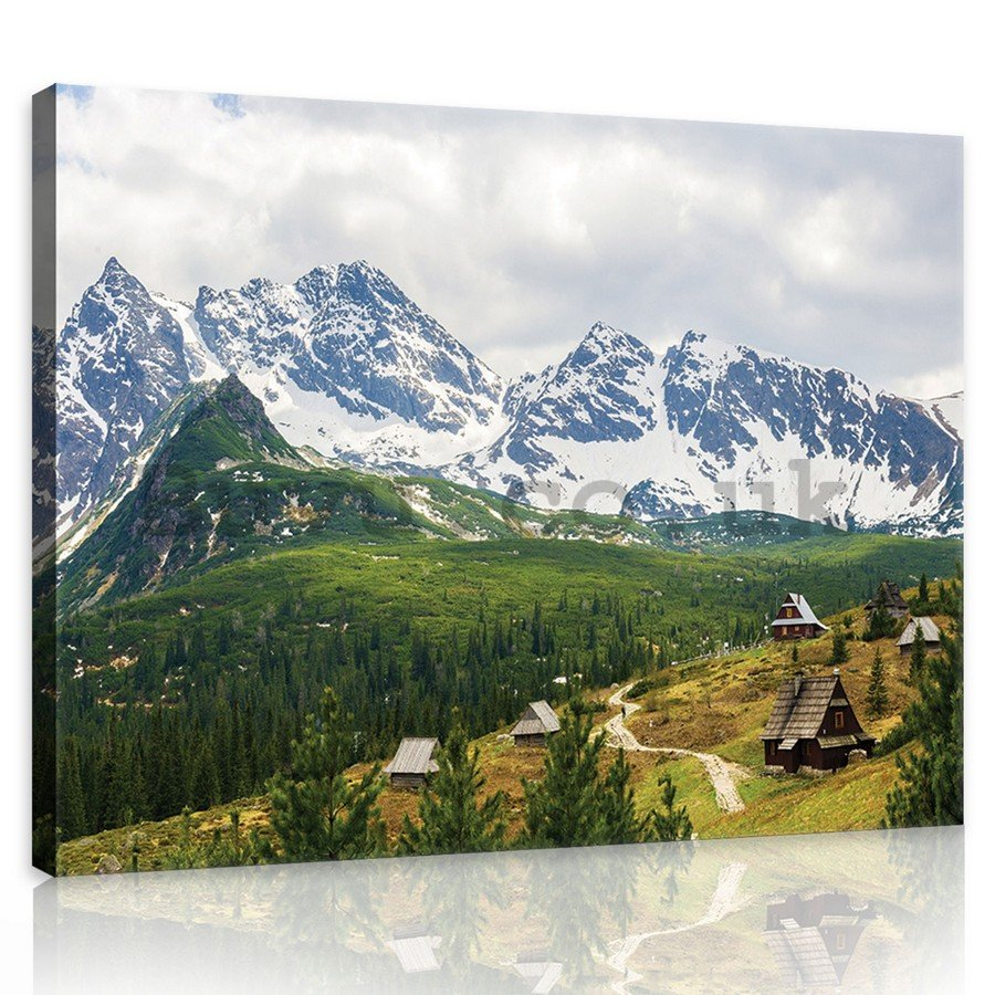Painting on canvas: Tatra Mountains (1) - 75x100 cm