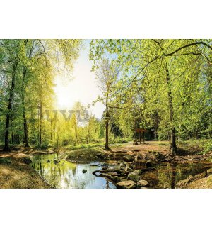 Painting on canvas: Forest brook (3) - 75x100 cm