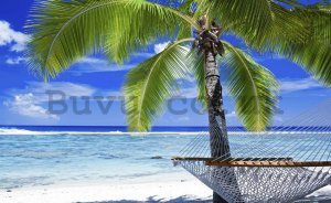 Wall Mural: Beach with hammock - 254x368 cm