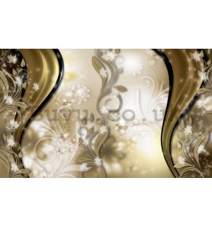 Wall mural vlies: Golden pattern - 254x368 cm