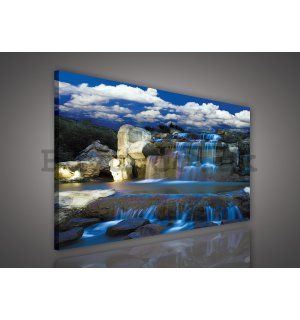 Painting on canvas: Waterfall (2) - 75x100 cm