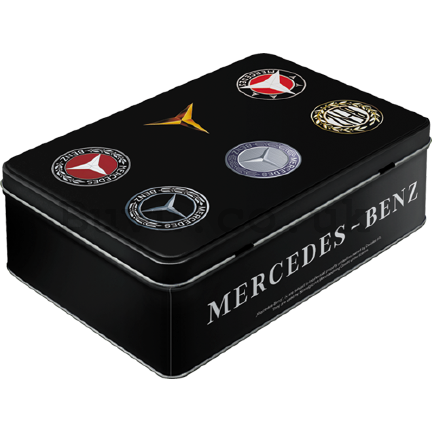 Tin box flat - Mercedes-Benz Logo Evolution