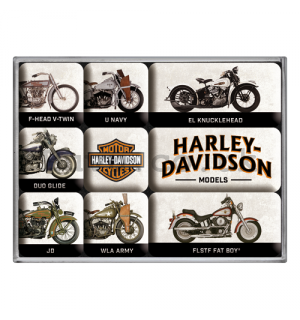 Set of magnets - Harley-Davidson (Models)