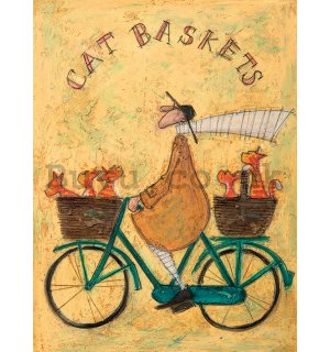 Painting on canvas: Sam Toft, Cat Baskets