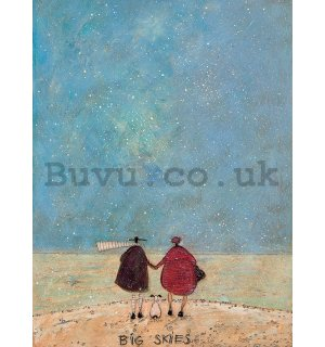 Painting on canvas: Sam Toft, Big Skies
