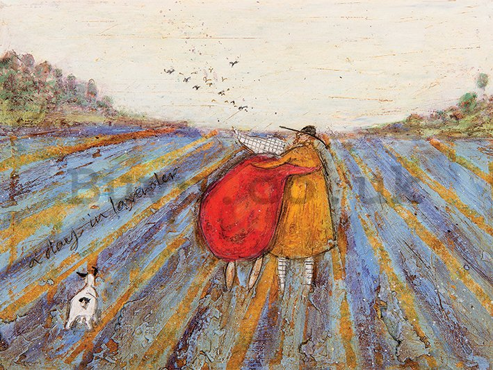 Painting on canvas: Sam Toft, A Day in Lavender