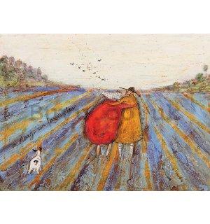 Sam Toft Lovely Weather For Ducks Ready Framed Canvas 30x30cm