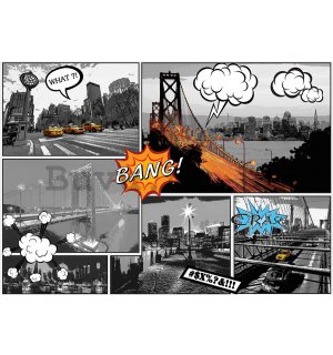 Wall mural vlies: New York (Comics) - 254x368 cm