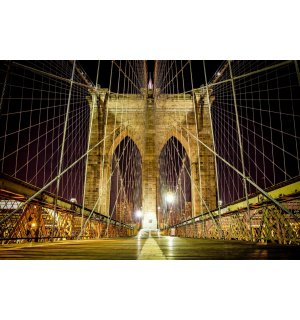 Wall Mural: Brooklyn Bridge Black & White - 184x254 cm