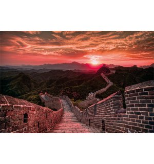 Poster - Great Wall of China (Sunset)