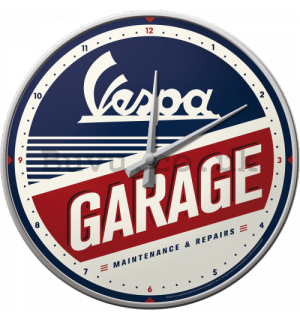 Retro wall clocks - Vespa Garage