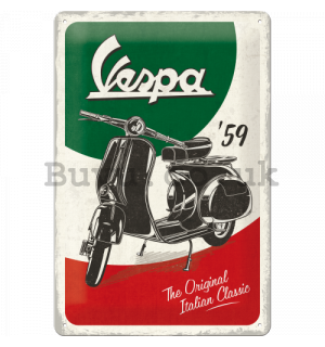 Metal sign: Vespa The Italian Classic - 30x20 cm