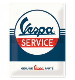 Metal sign: Vespa Service - 40x30 cm