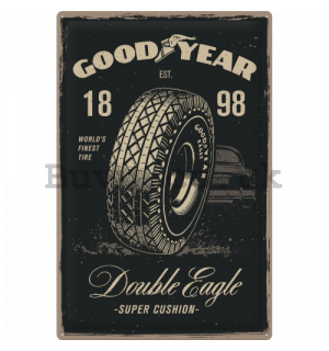 Metal sign - Good Year Double Eagle - 60x40 cm