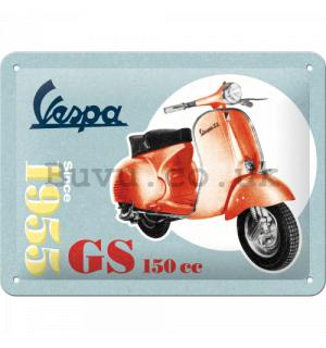 Metal sign: Vespa Since 1955 - 15x20 cm