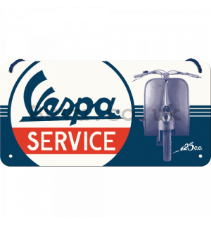 Wall hanging sign: Vespa Service - 10x20 cm