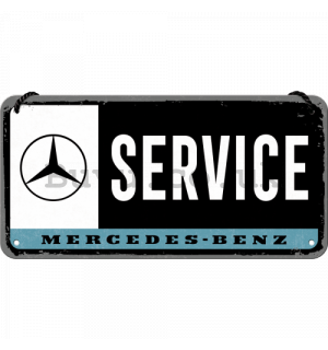 Wall hanging sign: Mercedes-Benz Service - 10x20 cm