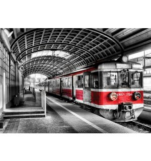Wall mural vlies: Old subway (colorful) - 254x368 cm