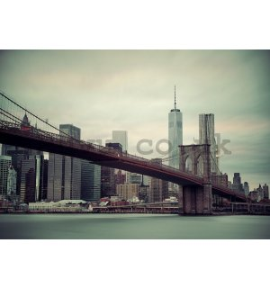 Wall mural vlies: Brooklyn Bridge (2) - 184x254 cm