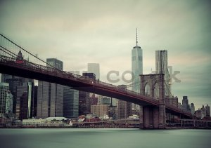 Wall mural vlies: Brooklyn Bridge (2) - 254x368 cm