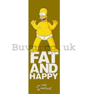 Poster - Simpsons fat and happy (2)