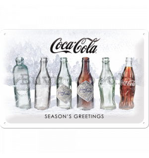 Metal sign: Coca-Cola White Special Edition (Season's Greetings) - 30x20 cm