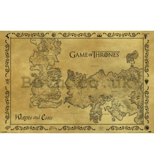 Poster - Game of Thrones (Old map)