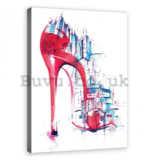 Painting on canvas: Shoe (abstract painting) - 100x75 cm