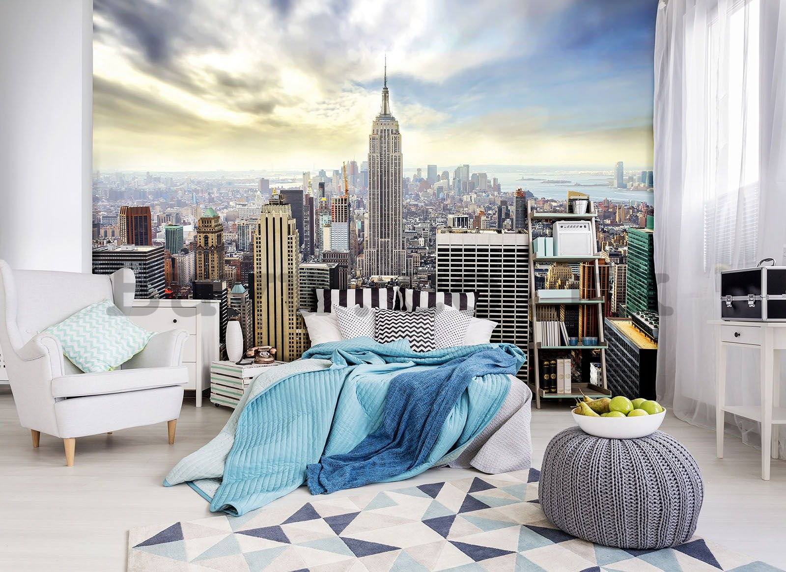 Wall mural vlies: Manhattan view - 184x254 cm