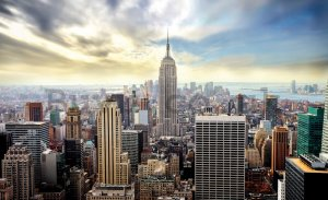 Wall mural vlies: View on New York - 184x254 cm