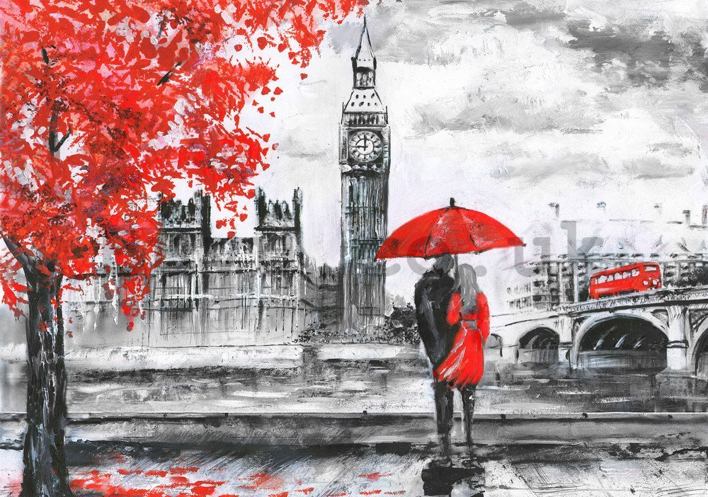 Wall mural vlies: London (painted) - 254x368 cm